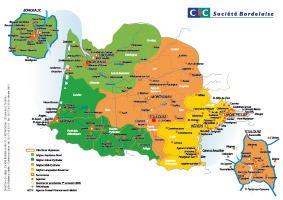carte de france quart sud ouest
